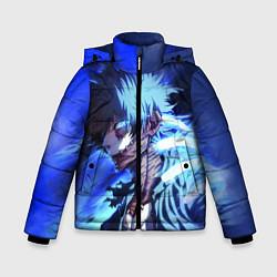 Детская зимняя куртка для мальчика с принтом Моя Геройская Академия, цвет: 3D-черный, артикул: 10200479506063 — фото 1