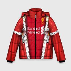 Куртка зимняя для мальчика King liverpool цвета 3D-черный — фото 1