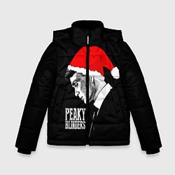 Куртка зимняя для мальчика Новогодний Острые Козырьки цвета 3D-черный — фото 1