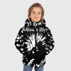 Куртка зимняя для мальчика Король и Шут Анархия спина цвета 3D-черный — фото 2