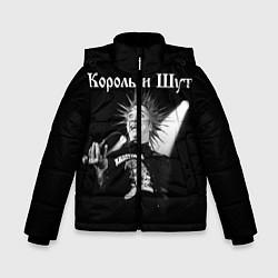 Куртка зимняя для мальчика Король и Шут Анархия спина цвета 3D-черный — фото 1