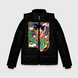 Куртка зимняя для мальчика Dragon Ball цвета 3D-черный — фото 1