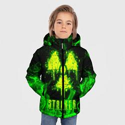 Куртка зимняя для мальчика STALKER 2 цвета 3D-черный — фото 2