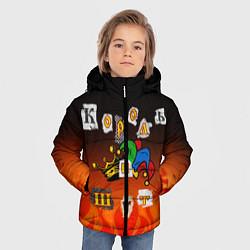 Куртка зимняя для мальчика Король и Шут цвета 3D-черный — фото 2