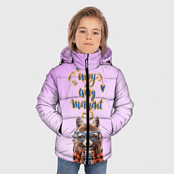 Куртка зимняя для мальчика Енот цвета 3D-черный — фото 2