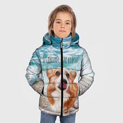 Куртка зимняя для мальчика Отдыхай, как корги! цвета 3D-черный — фото 2