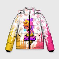 Детская зимняя куртка для мальчика с принтом BRAWL STARS SANDY, цвет: 3D-черный, артикул: 10207900306063 — фото 1