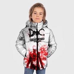 Куртка зимняя для мальчика Devil may cry цвета 3D-черный — фото 2