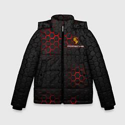 Куртка зимняя для мальчика PORSCHE цвета 3D-черный — фото 1
