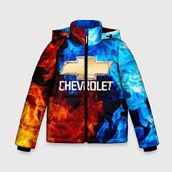 Куртка зимняя для мальчика CHEVROLET цвета 3D-черный — фото 1