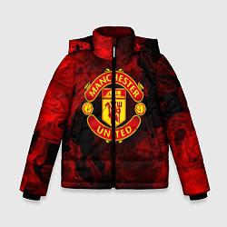Куртка зимняя для мальчика МАНЧЕСТЕР ЮНАЙТЕД цвета 3D-черный — фото 1