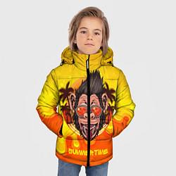 Куртка зимняя для мальчика Summertime обезьяна цвета 3D-черный — фото 2