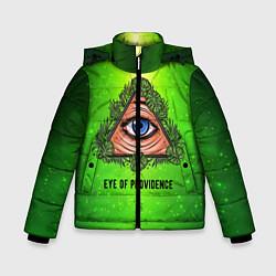 Куртка зимняя для мальчика Всевидящее око цвета 3D-черный — фото 1