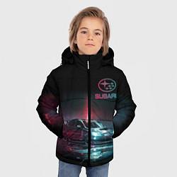 Куртка зимняя для мальчика SUBARUСпина цвета 3D-черный — фото 2