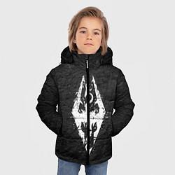 Куртка зимняя для мальчика THE ELDER SCROLLS цвета 3D-черный — фото 2