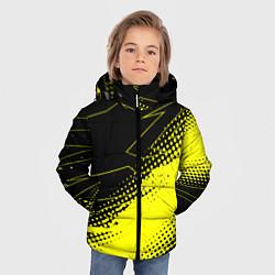 Куртка зимняя для мальчика Bona Fide Одежда для фитнеcа цвета 3D-черный — фото 2