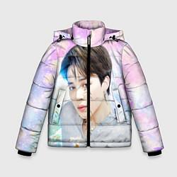 Куртка зимняя для мальчика БТС 2020 Season Greeting Чимин цвета 3D-черный — фото 1