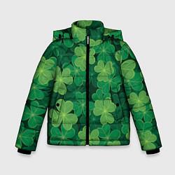 Куртка зимняя для мальчика Ирландский клевер цвета 3D-черный — фото 1