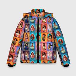 Куртка зимняя для мальчика Принцессы цвета 3D-черный — фото 1