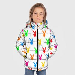 Куртка зимняя для мальчика PLAYBOY цвета 3D-черный — фото 2