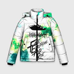 Куртка зимняя для мальчика Papa Roach цвета 3D-черный — фото 1