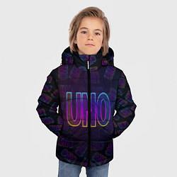 Куртка зимняя для мальчика Little Big: UNO цвета 3D-черный — фото 2