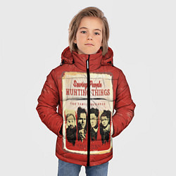 Куртка зимняя для мальчика Saving People Hunting Things цвета 3D-черный — фото 2
