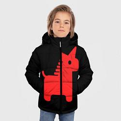Куртка зимняя для мальчика Единорог минимал цвета 3D-черный — фото 2