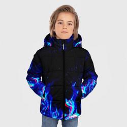 Куртка зимняя для мальчика СИНИЙ ОГОНЬ ГЛИТЧ цвета 3D-черный — фото 2