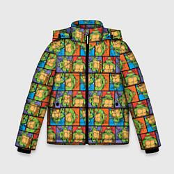 Куртка зимняя для мальчика Teenage Mutant Ninja Turtles цвета 3D-черный — фото 1