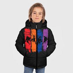 Куртка зимняя для мальчика Силуэты черепашек цвета 3D-черный — фото 2