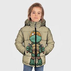 Куртка зимняя для мальчика Маленький Микеланджело цвета 3D-черный — фото 2