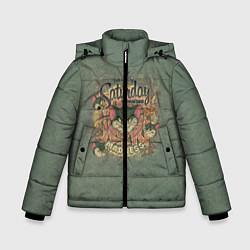 Куртка зимняя для мальчика Saturday Madness цвета 3D-черный — фото 1
