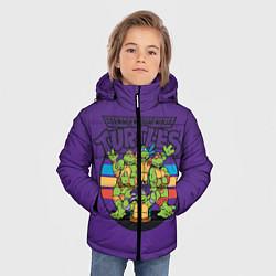 Куртка зимняя для мальчика Черепашки Ниндзя цвета 3D-черный — фото 2