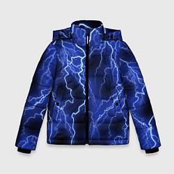 Куртка зимняя для мальчика МОЛНИЯ NEON цвета 3D-черный — фото 1