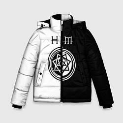 Куртка зимняя для мальчика HIM цвета 3D-черный — фото 1