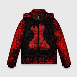 Куртка зимняя для мальчика UNCHARTED цвета 3D-черный — фото 1