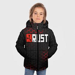 Куртка зимняя для мальчика RUST цвета 3D-черный — фото 2