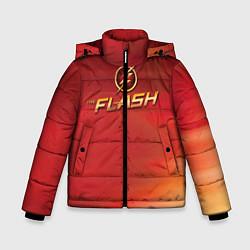 Куртка зимняя для мальчика The Flash Logo Pattern цвета 3D-черный — фото 1