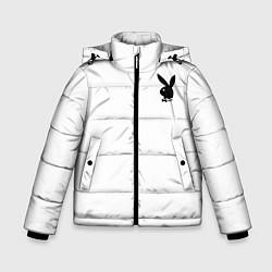 Куртка зимняя для мальчика Зайчик playboy цвета 3D-черный — фото 1