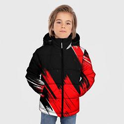 Куртка зимняя для мальчика ТЕКСТУРА цвета 3D-черный — фото 2