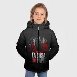 Куртка зимняя для мальчика Бумажный дом цвета 3D-черный — фото 2
