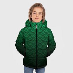 Куртка зимняя для мальчика Узор зеленая чешуя дракон - фото 2