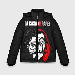 Куртка зимняя для мальчика La casa de papel цвета 3D-черный — фото 1