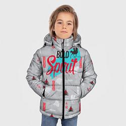 Куртка зимняя для мальчика Bold Spirit цвета 3D-черный — фото 2