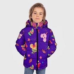 Детская зимняя куртка для мальчика с принтом Минни Маус, цвет: 3D-черный, артикул: 10250076706063 — фото 2
