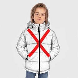 Куртка зимняя для мальчика Красный крест цвета 3D-черный — фото 2