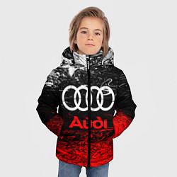 Куртка зимняя для мальчика AUDI цвета 3D-черный — фото 2