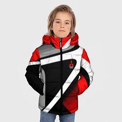 Куртка зимняя для мальчика Mitsubishi ФОРМА цвета 3D-черный — фото 2