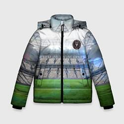 Детская зимняя куртка для мальчика с принтом FC INTER MIAMI, цвет: 3D-черный, артикул: 10256803706063 — фото 1